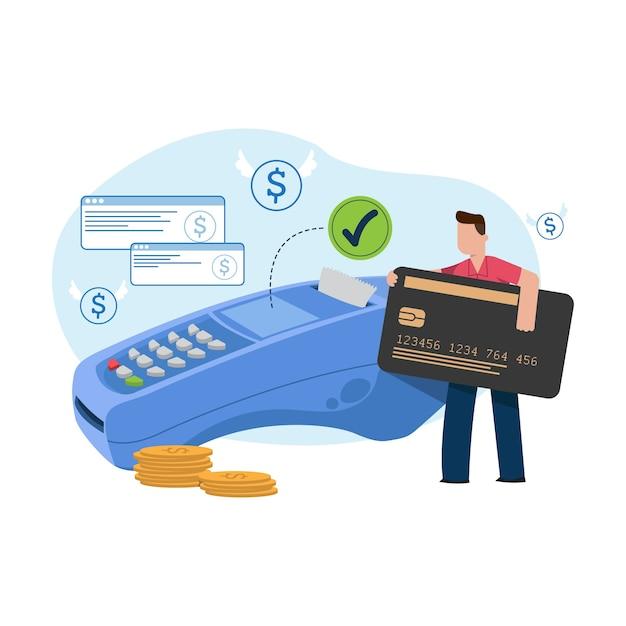 Оплата кредитной картой concept за целевую страницу Бесплатные векторы