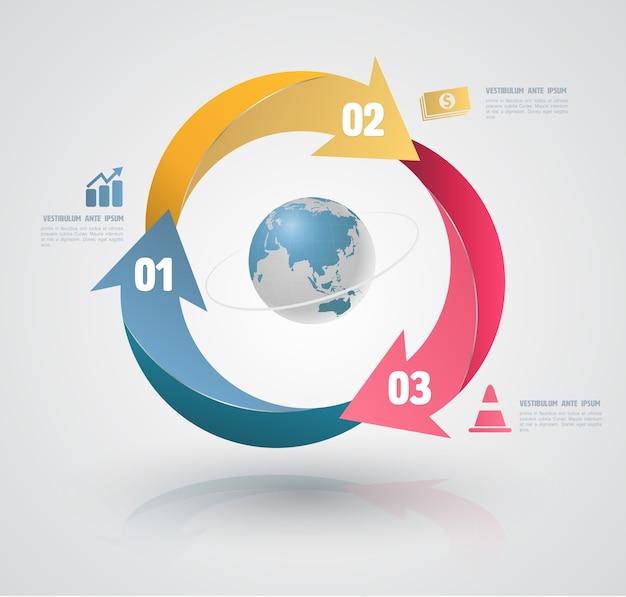 Conceptual elements for infographic. Premium Vector