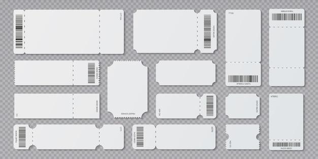 コンサート映画館と搭乗空白の白いチケット Premiumベクター