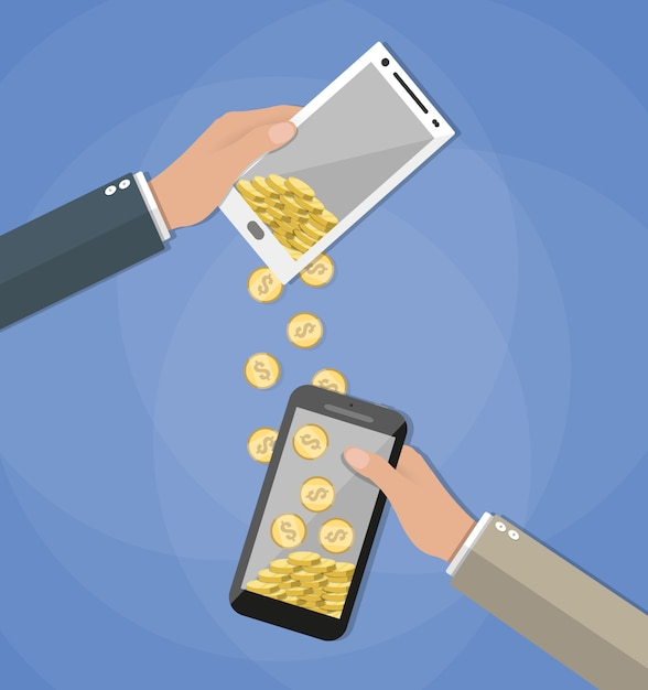 モバイルバンキングconcpets Premiumベクター