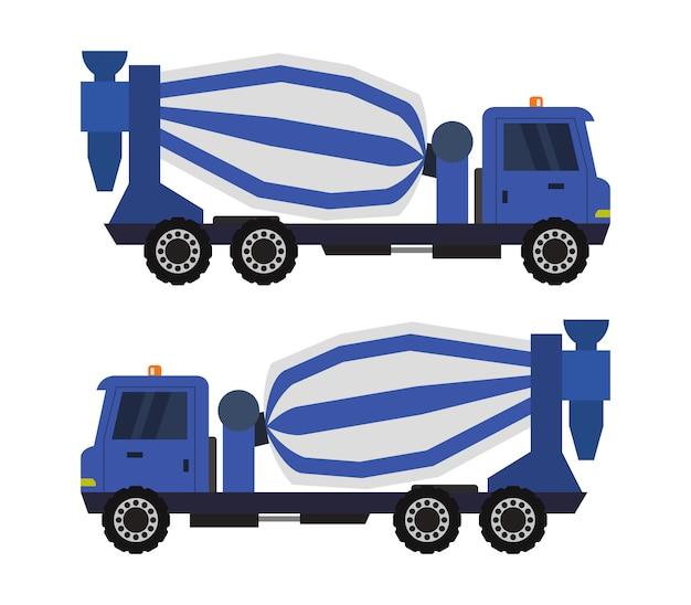 Concrete mixer truck Premium Vector