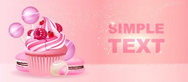 Confectionery realistic Premium Vector