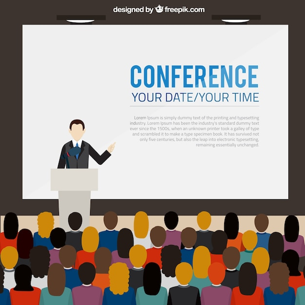 conference poster template vector | free download, Powerpoint templates