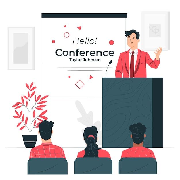 Conference concept illustration Free Vector