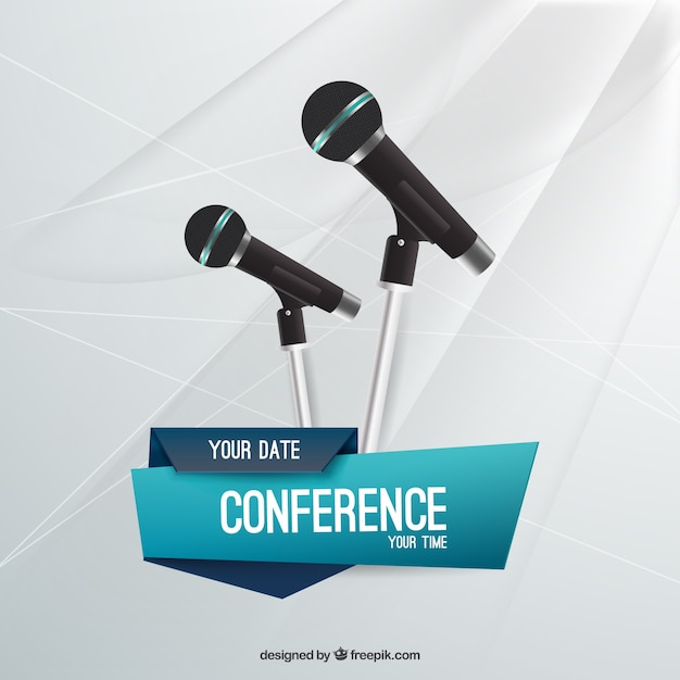conference flyer template vector | free download, Powerpoint templates