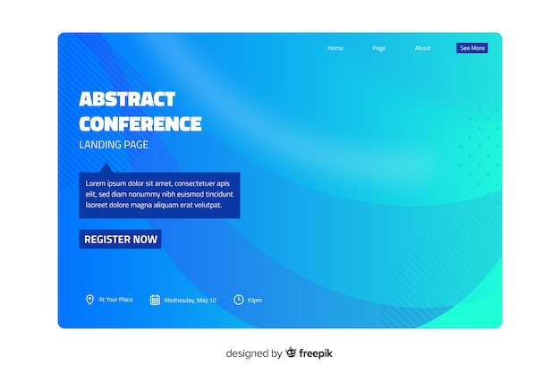 Conference landing page Free Vector