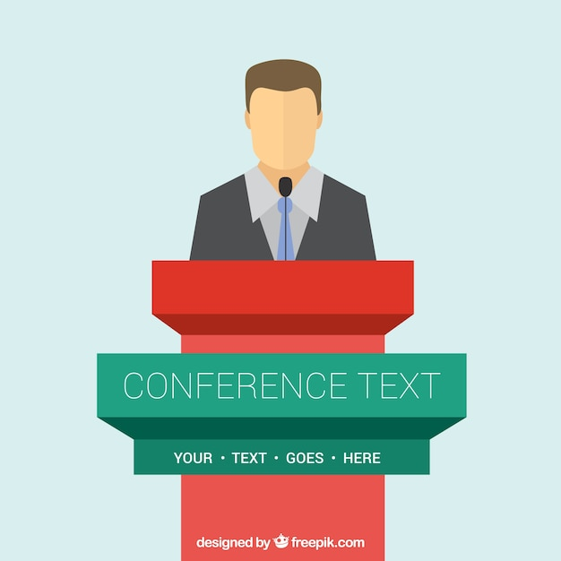 Conference podium template Free Vector