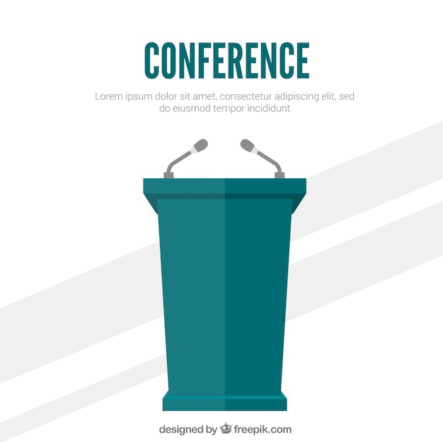 Conference podium Free Vector
