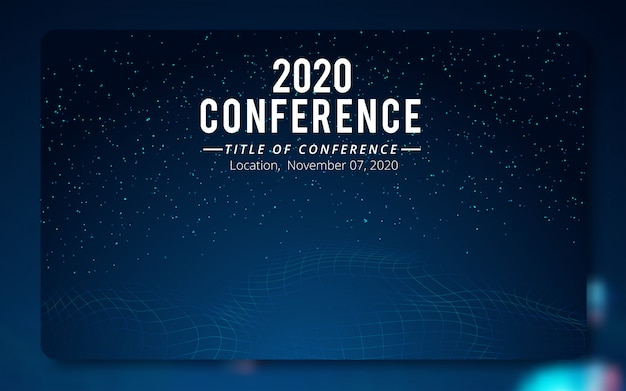 Conference poster template. Premium Vector