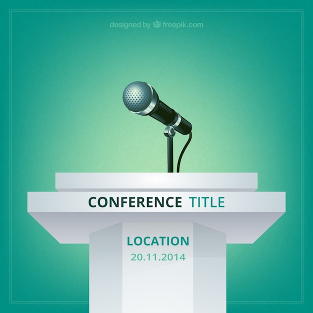 Conference poster Free Vector