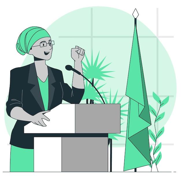 Conference speaker concept illustration Free Vector