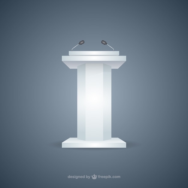 Conference stage Free Vector