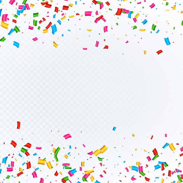 confetti background with space vector free download
