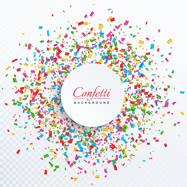 confetti background with text space design Free Vector