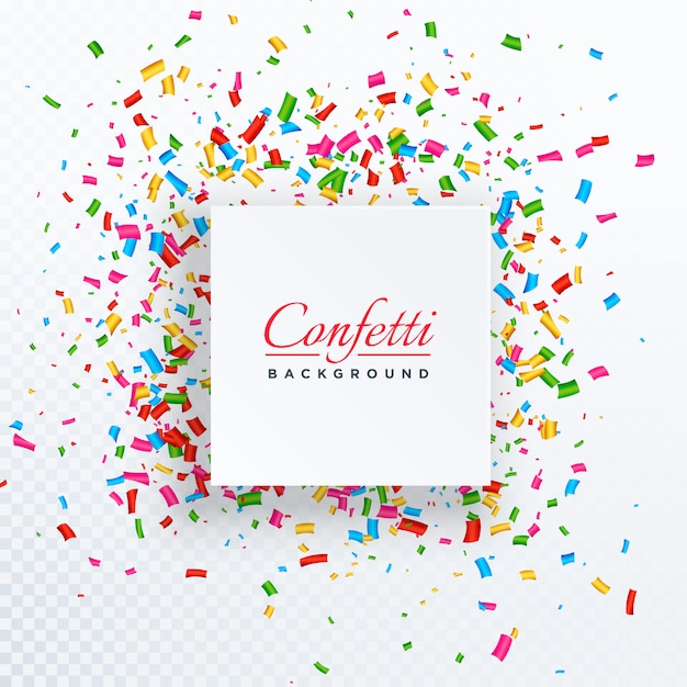 confetti background with text space Free Vector