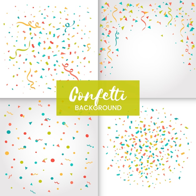 Confetti background Free Vector
