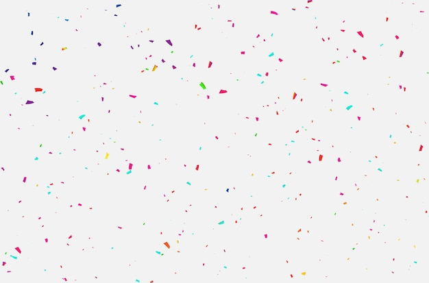 Confetti celebration carnival ribbons. Premium Vector