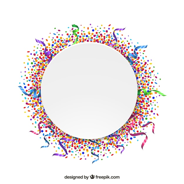 Confetti Frame Vector Free Download