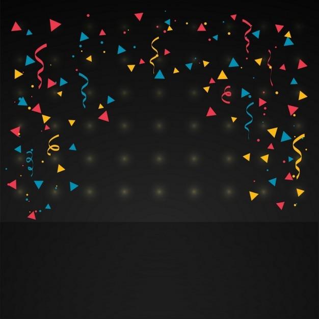 confetti in black background vector free download
