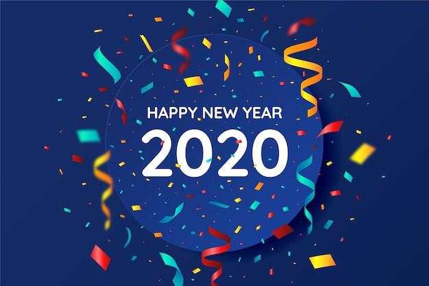 Конфетти новый год 2020 фон Premium векторы