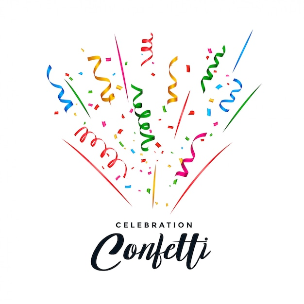 Confetti and serpentine explosion background Free Vector
