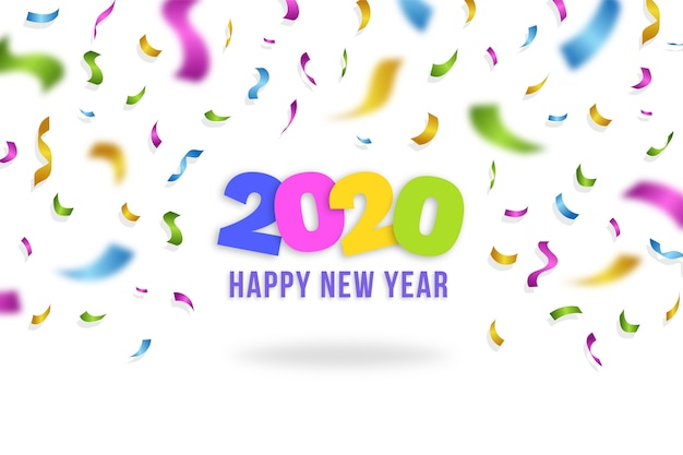 Confetti wallpaper new year 2020 Free Vector