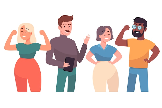 Confident people collection Free Vector