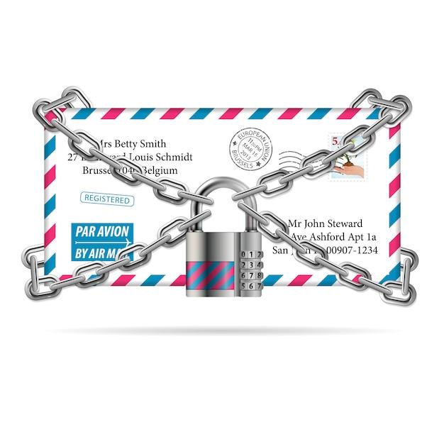 Confidential mail Premium Vector