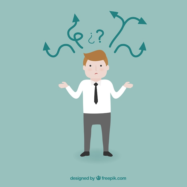 Confused businessman  Free Vector