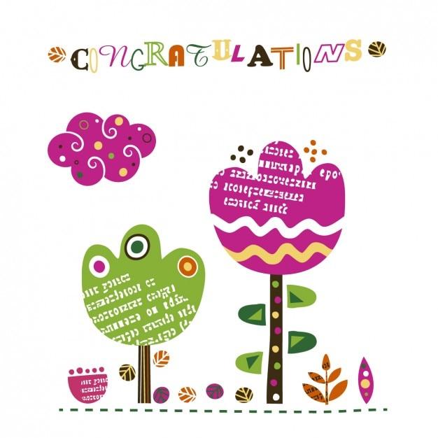 congratulations card vector free download