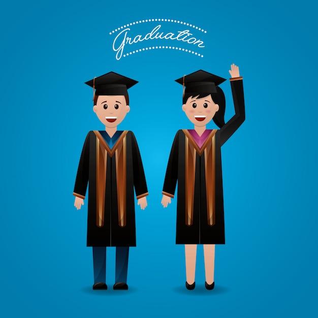 Congratulations graduation background Free Vector