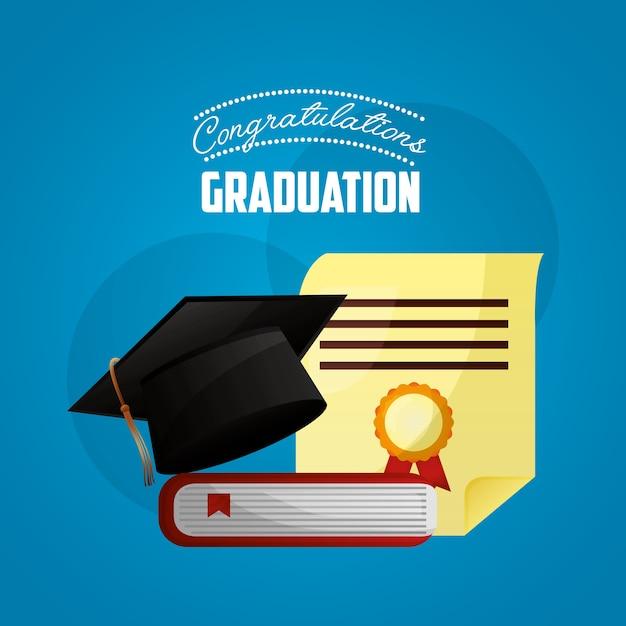 Congratulations Graduation Card Vector Premium Download