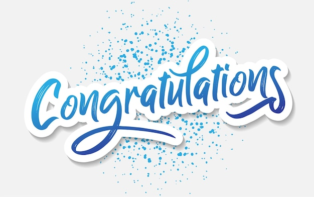 Congratulations lettering message vector for greeting Premium Vector