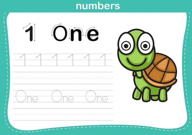 Connecting dot and printable numbers exercise Premium Vector