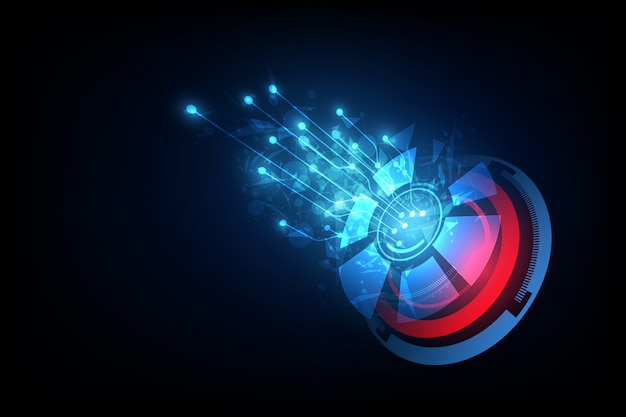 Connection line on networking telecommunication concept background Premium Vector