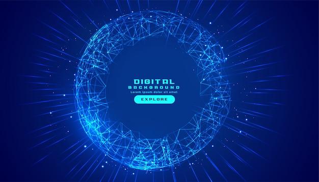 Sfondo di tecnologia digitale di connessioni con maglie di linee Vettore gratuito