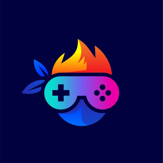 Console and ninja for gaming logo design Premium Vector