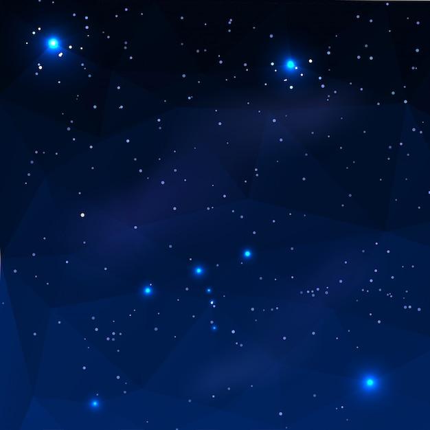 Constellation of orion Premium Vector