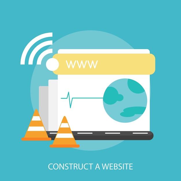 Construct a website conceptual design Premium Vector