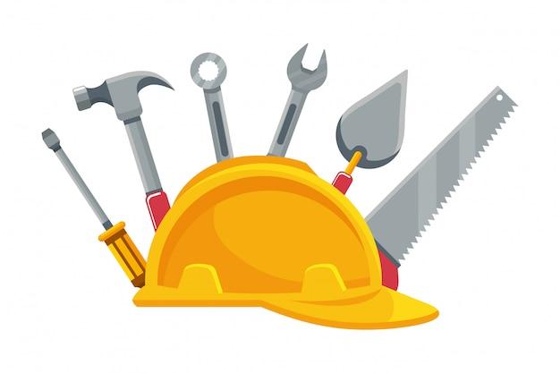 Construction architectural cartoon Premium Vector
