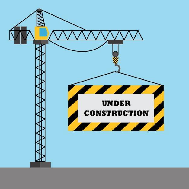 "Building Design Software Freeware: ""under Construction"" Background Design Vector"