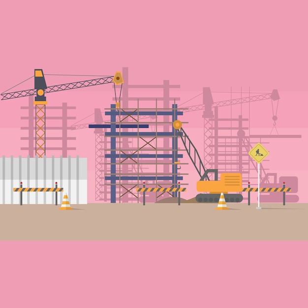 Construction background design Free Vector