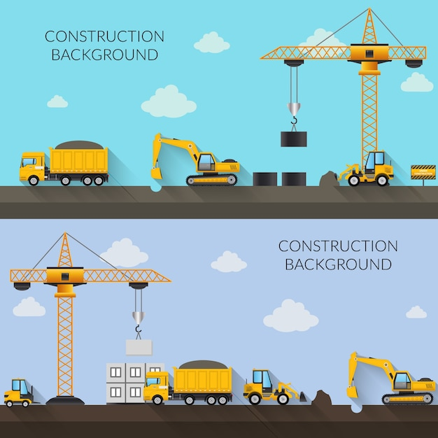 Construction background illustration Free Vector