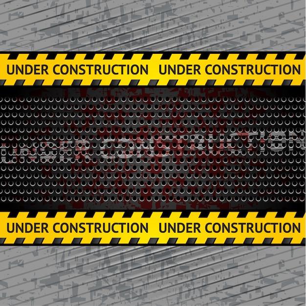 Under construction background Premium Vector