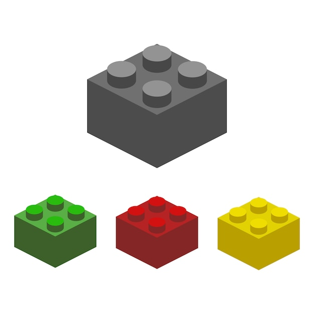 Construction block  illustration Premium Vector