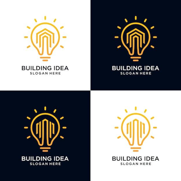 Строительные идеи здания Premium векторы