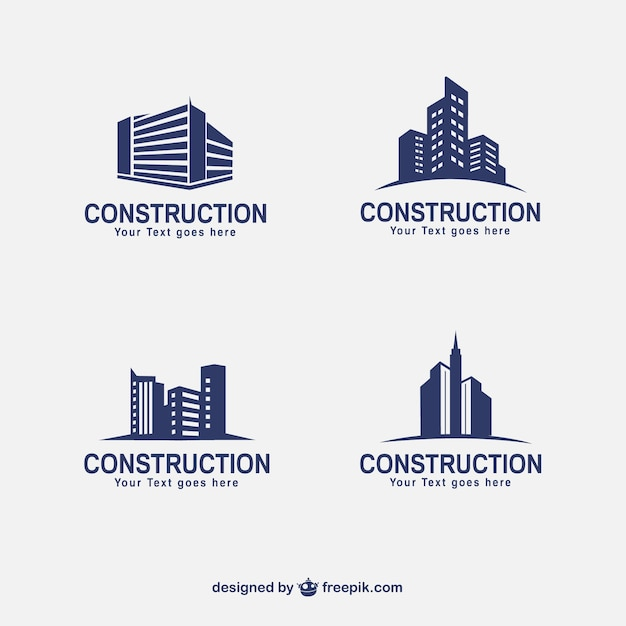 Construction buildings Free Vector