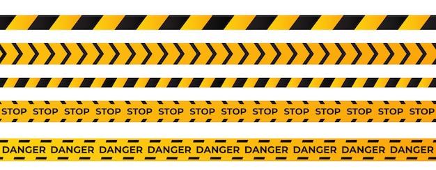Construction caution tape Premium Vector