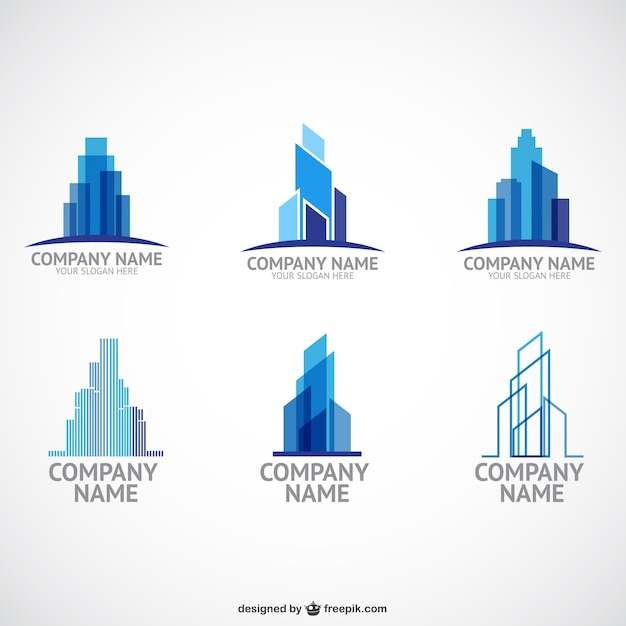 construction company logo templates free vector