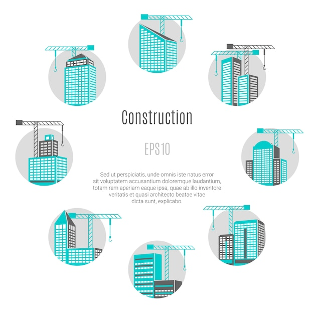 Construction concept illustration Free Vector